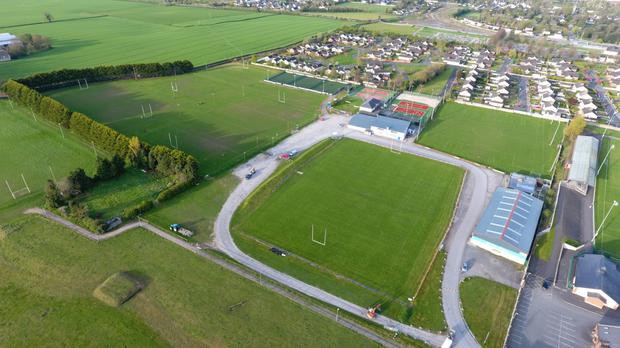 An aerial view of Athy's grounds in Co Kildare