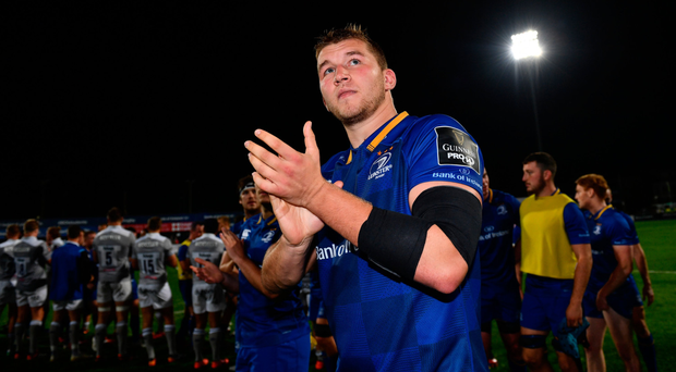 Ross Molony acknowledges fans after pre-season victory over Bath. Photo: Sportsfile