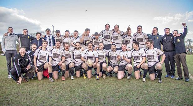 The triumphant squad who claimed the Leinster league Division 1B title in 2015. Photo: Ken McGuire, Event Media