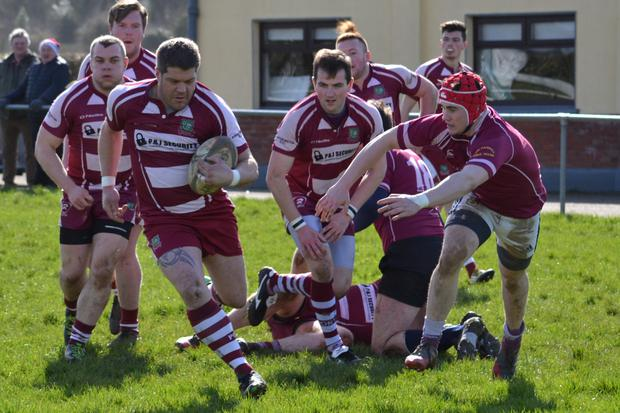 Mark Petriw in action during Portarlington's victory over Roscrea last year