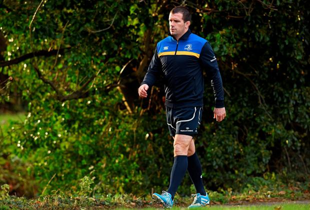 Leinster's Shane Jennings arrives for squad training ahead of Friday's Guinness PRO12, Round 10, against Connacht. Leinster Rugby Squad Training, UCD, Belfield, Dublin