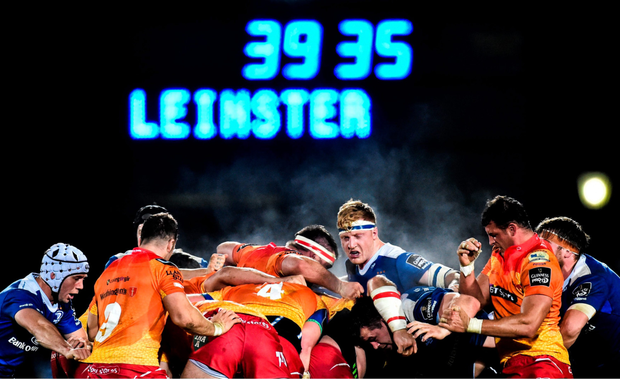 James Tracy in action during Leinster's victory over Scarlets
