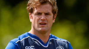 Jamie Heaslip in training this week (SPORTSFILE)