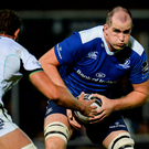 Leinster's Devin Toner in action against Ospreys' Tyler Ardron during their Pro12 clash last week. Photo: Seb Daly/Sportsfile