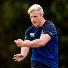 James Tracy has had to remain patient during his time with Leinster but he is hoping that he will get a chance to impress at the Aviva Stadium tomorrow. Photo: Seb Daly/Sportsfile