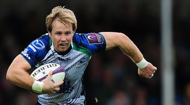 The former Connacht and Leinster winger Fionn Carr has returned to his roots in the AIL, turning out for Nass RFC Photo: Getty