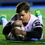 Louis Ludik scores a try for Ulster during the Guinness PRO12 match against Cardiff last night. Photo: Chris Fairweather