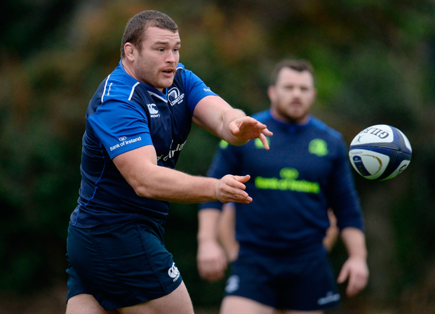 Jack McGrath during training this week ahead of their Champions Cup clash against Northampton tomorrow