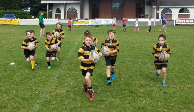 Members of the club's minis enjoying the fun in front of the clubhouse