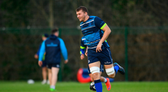 Ross Molony hopes to take inspiration from team-mate Johnny Sexton's Six Nations heroics as Leinster return to PRO14 action tonight. Photo: Sportsfile