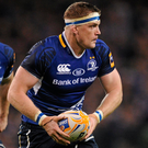 Jamie Heaslip in action with Fergus McFadden against Munster at Lansdowne Road during their 2011 PRO12 game. Photo: Sportsfile