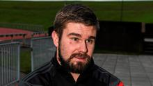 Munster's Duncan Casey speaking to reporters during a press conference ahead of Friday's match against Ulster