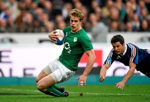 Andrew Trimble is pushing hard for an Ireland recall after returning from injury
