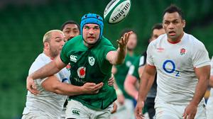 Ireland's Tadhg Beirne is tackled by England's Ellis Genge during last Saturday's Guinness Six Nations encounter at Aviva Stadium. Photo: Ramsey Cardy/Sportsfile