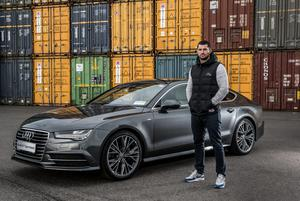 Rob Kearney with his new Audi