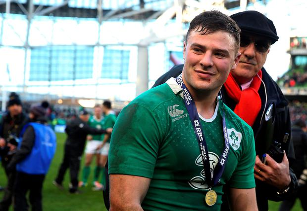 Man of the match Robbie Henshaw after the RBS Six Nations match against England