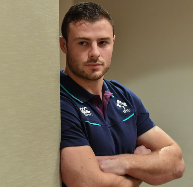 Robbie Henshaw: 'It's nice to be able to keep growing into that shirt and keep performing week in, week out.' Photo: Brendan Moran