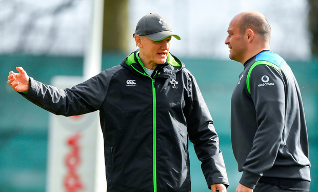 Joe Schmidt and Rory Best are in line to lead Ireland towards the World Cup next year Photo: Sportsfile