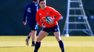 George Ford of England trains ahead of the Guinness Six Nations match against Ireland. (Photo by Adam Davy - Pool/Getty Images)