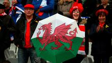 Wales fans during the RBS Six Nations match at the Stade de France, Paris, France