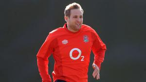 England's Max Malins during training