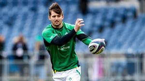 Ross Byrne has 14 Ireland caps since making his debut in 2018. Image credit: Sportsfile.