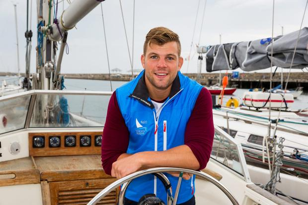 Jordi Murphy checks out a boat ahead of the Volvo Dun Laoghaire Regatta