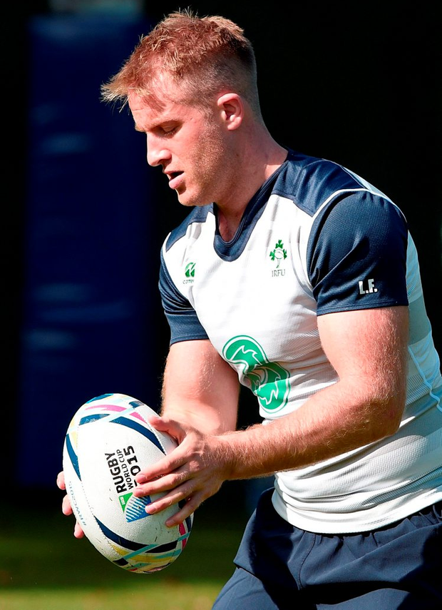 Luke Fitzgerald, who has been named at inside centre, during yesterday's training session at Sophia Gardens, Cardiff