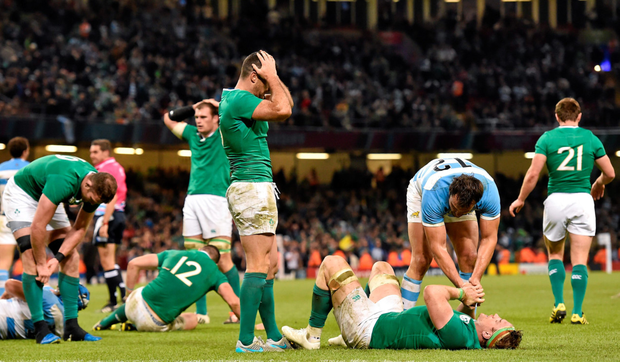 Ireland's players are left shattered by defeat to Argentina