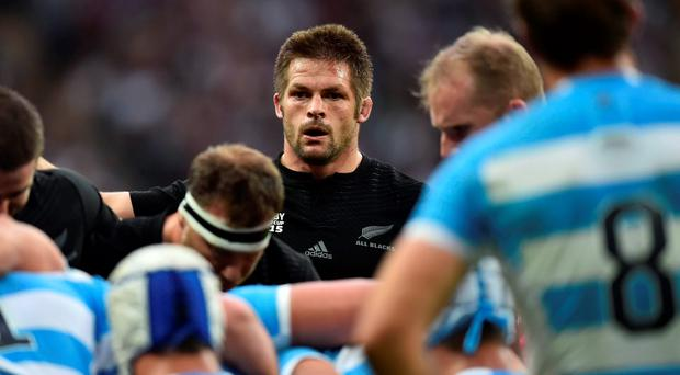 Richie McCaw keeps his focus during New Zealand's victory over Argentina