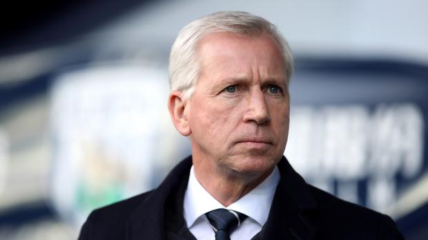 Alan Pardew is feeling the heat at West Brom