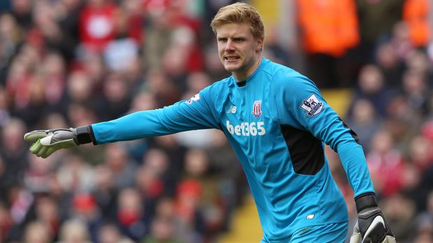 Jakob Haugaard has conceded six goals in two appearances for Stoke