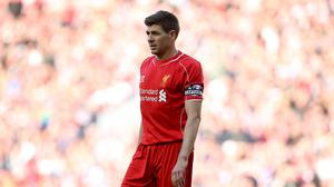 Liverpool's Steven Gerrard signed off at Anfield