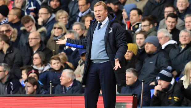 Everton manager Ronald Koeman is taking a hard line on player contracts