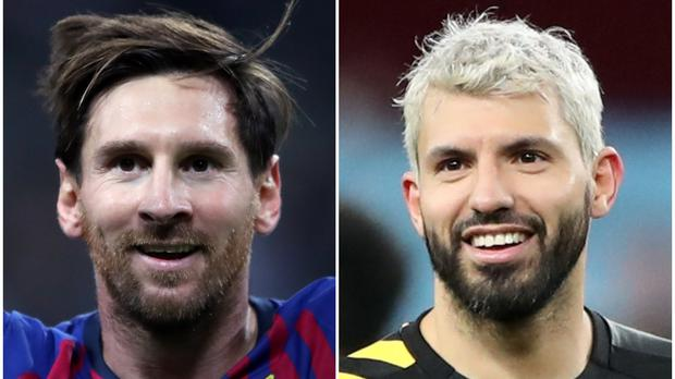 Pep Guardiola still believes Lionel Messi (left) is better than Sergio Aguero (right) (Nick Potts/PA)