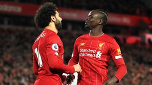 Sadio Mane, right, and Mohamed Salah have been crucial to Liverpool's Premier League run (Peter Byrne/PA)