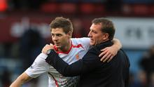 Brendan Rodgers, right, admits he will be hard-pressed to find a replacement for Steven Gerrard
