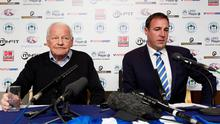 Dave Whelan and Malky Mackay