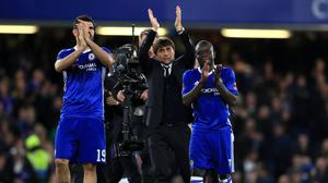 N'Golo Kante (right) was a stand-out for Chelsea