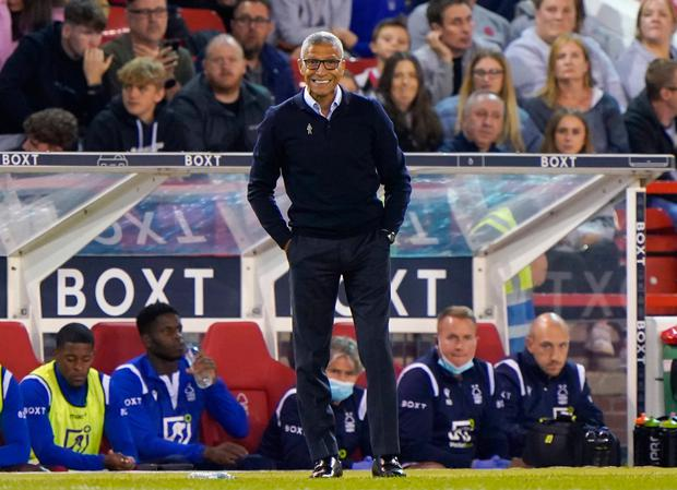 Nottingham Forest manager Chris Hughton on the touchline during the Sky Bet Championship defeat to Middlesbrough at the City Ground, Nottingham. Photo: Joe Giddens/PA Wire.