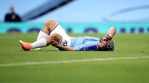 Manchester City's Sergio Aguero was injured against Burnley (Martin Rickett/NMC Pool/PA).