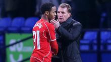 Brendan Rodgers, right, insists that the club won't sell Raheem Sterling, left