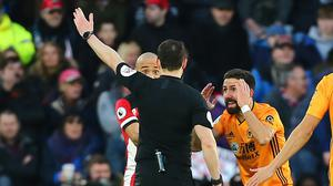 Refereeing decisions could be impact by the lack of crowd (Mark Kerton/PA)