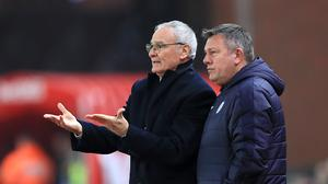 Craig Shakespeare, right, has replaced Claudio Ranieri, left, as Leicester manager until the end of the season