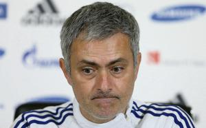 Jose Mourinho in pensive mood at his press conference yesterday