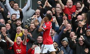Manchester United's Marcus Rashford marked his first Premier League start since Boxing Day with two goals against Liverpool.