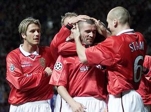 Roy Keane led from the front as Manchester United captain (Phil Noble/PA)