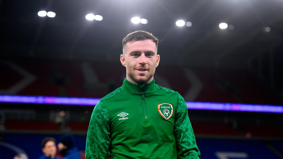 Jack Byrne during a Republic of Ireland training session at Cardiff City Stadium in Cardiff, Wales. Photo by Stephen McCarthy/Sportsfile