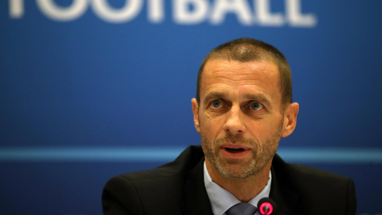 UEFA president sets a timescale on a return for football as he suggests the current season might not finish