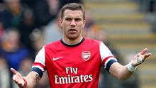 Lukas Podolski accepts Arsenal must improve against the top three in the Barclays Premier League next season